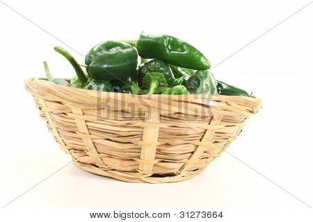 Fresh Pimientos In A Bowl