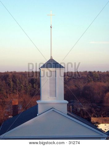 Steeple In New England