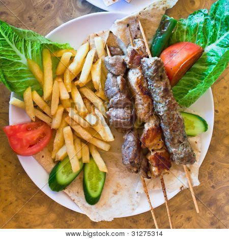 Skewers Mix Arabic Kebabs