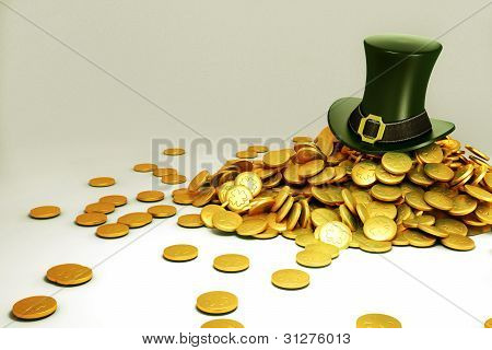 Saint Patrick's Hat with gold Coin