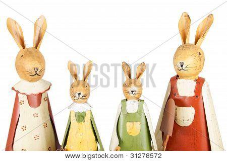Easter Bunnies Family