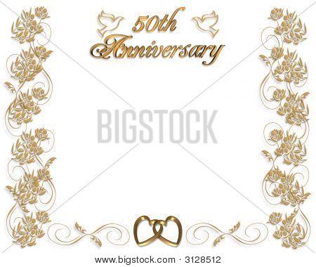 Wedding Anniversary Invitation 50 Years