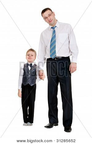 Businessman With His Son