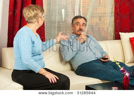 Wife Arguing Mature Husband