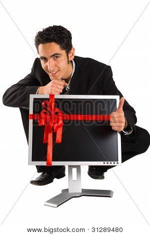 Successful Businessman Buy Monitor.