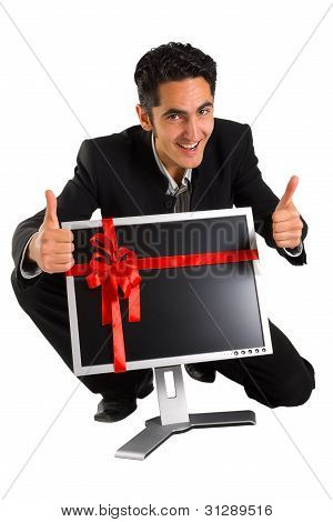 Successful Businessman Buy Monitor