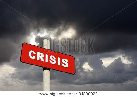 Signo de Crisis rojo