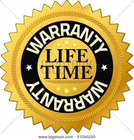 Garantie Lebensdauer Qualität Garantie Abzeichen
