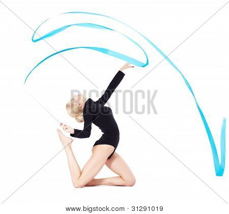 Beautiful Blonde Gymnast
