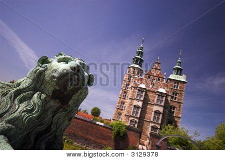 Lion In Front Of Royal Rosenborg Castle
