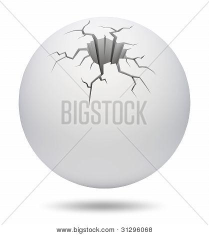 Cracked sphere