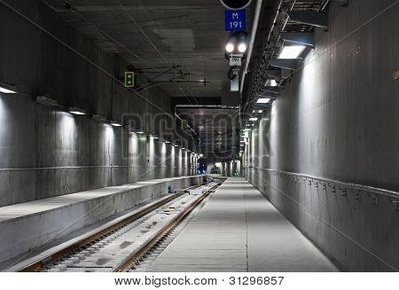 Underground metro tunnel