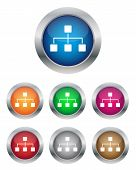 picture of vpn  - Collection of network buttons in various colors - JPG