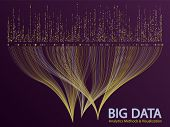 Big Data Statistical Analysis Visualization Concept Vector Design. 0 And 1 Binary Information Data V poster