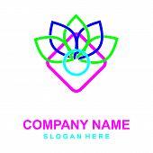 Leafs Logo Modern. Yoga Logo. Natural And Organic Food Logo. Eco Friendly Icon. Ecology Icon. Leaf I poster