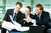 image of business-partner  - Photo of business partners planning together their work in the office - JPG