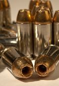 pic of hollow point  - Close up photo of Hollow point 40 cal bullets - JPG
