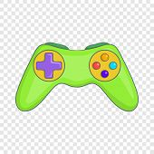 Game Controller Icon. Cartoon Illustration Of Controller Icon For Web Design poster