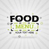 Green Logo For Food Menu. For Food Cover App, Booking Restaurant, Food Websites, Recipe Food, Finger poster