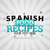 Green Logo For Spanish Food Recipes. For Food Cover App, Booking Restaurant, Food Websites, Recipe F poster