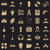 Good Occupation Icons Set. Simple Style Of 36 Good Occupation Icons For Web For Any Design poster