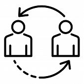Change Personal Recruitment Icon. Outline Change Personal Recruitment Icon For Web Design Isolated O poster