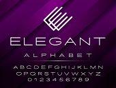 Vector Elegant Design Font For Logo, Titles And More. Alphabet Isolated On Elegant Background. poster