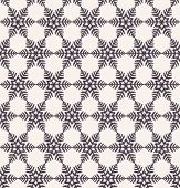 Hand Drawn Abstract Winter Snowflakes Pattern. Stylish Crystal Stars. Black White Background. Elegan poster