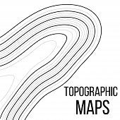 Topographic Map Contour Background. Line Topographic Map Contour Background. Art Design Contour Back poster