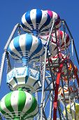 foto of carnival ride  - big wheel details - JPG