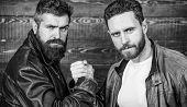 Real Men And Brotherhood. Strong Handshake. Friendship Of Brutal Guys. Mafia Dealer. Real Friendship poster