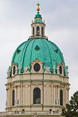 Dome Of The Karlskirche (st. Charles's Church), Vienna, Austria