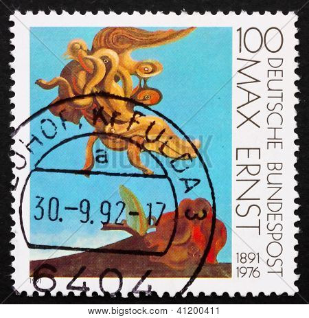 Postage Stamp Germany 1991 Bird Monument By Max Ernst