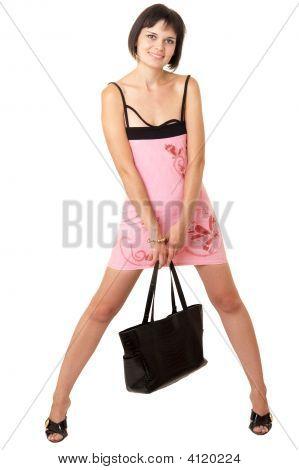 Woman In A Little Pink Dress