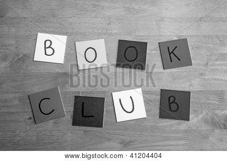 Book Club - sign for books, reading and learning