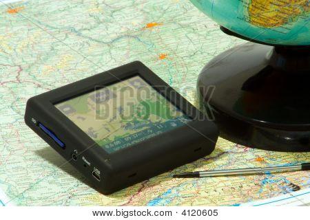 GPS-Navigation auf der Karte