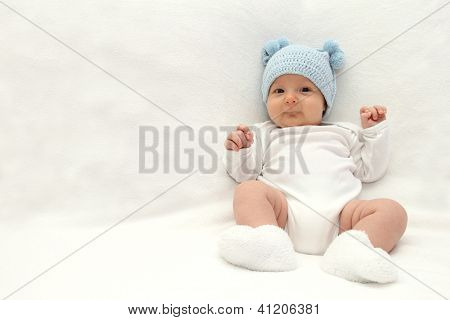 Baby In Blue Hat