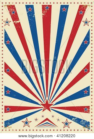 tricolor vintage. A vintage poster with sunbeams for your advertising