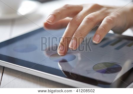Finger Touching Screen On Touchpad