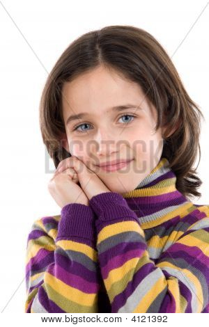 Portrait Of Adorable Girl