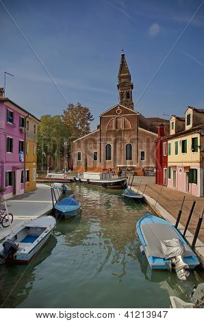 Colorful island Burano, near Venice, Italy