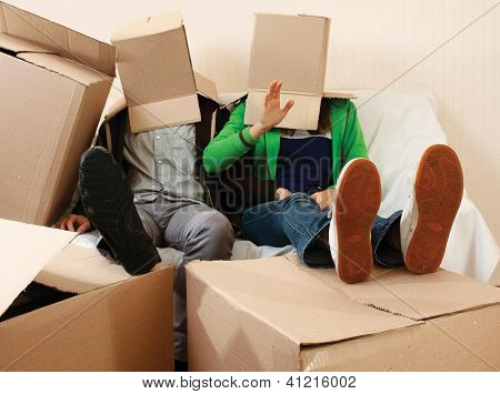Box people