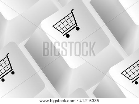 Keyboard with shopping carts