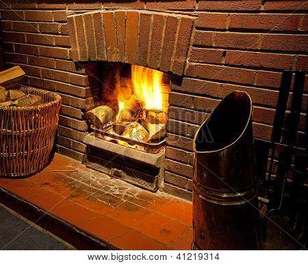 A Cosy Roaring Log Fire