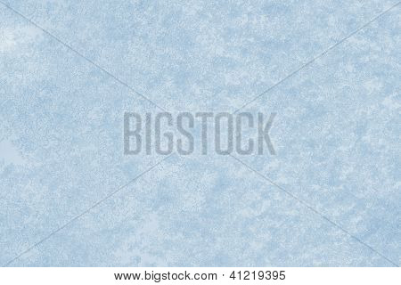 Ice On Frozen Window For Background Or Backdrop