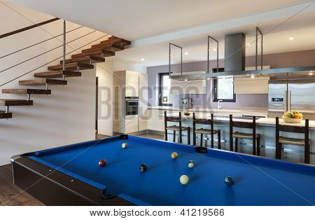 Beautiful modern loft, billiards