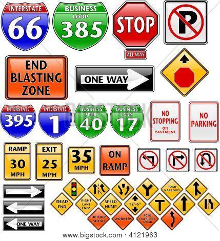 Coleção de sinais de trânsito