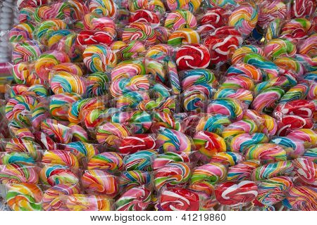 Lollipops sweet candy