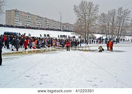 Kiev - Jan 19: Epiphany (kreshchenya) Morning On January 19, 2013 In Kiev, Ukraine.