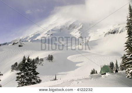 Día de invierno en Mount Rainier